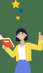 professora lendo